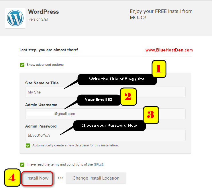 Install WordPress in Bluehost hosting within 5 minutes