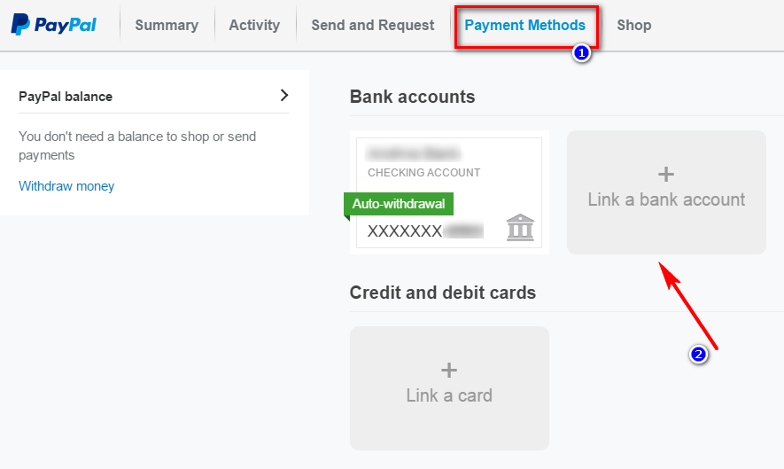 add your bank details in paypal account