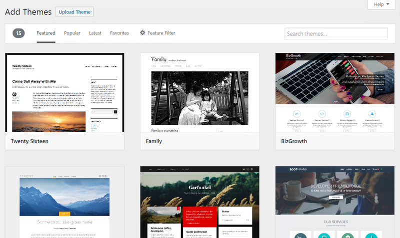 How to add wordpress themes