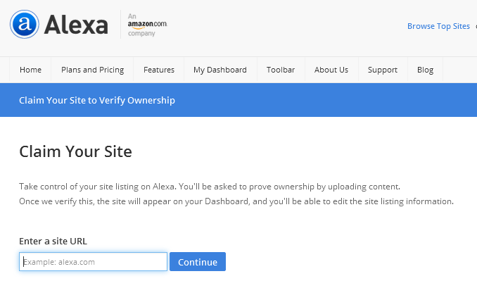 How to Claim your blog in Alexa.com