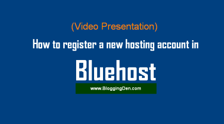 How to register a new hosting account in Bluehost