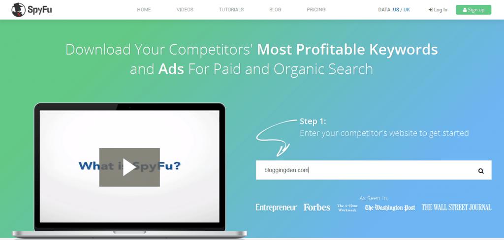 spyfu - best Internet Marketing Tools
