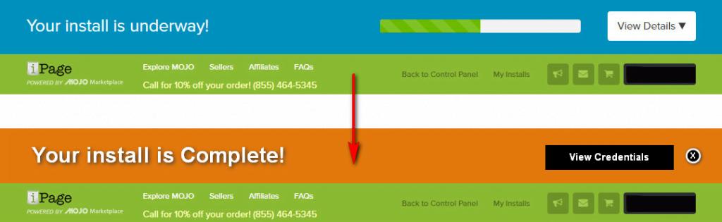 WP Installation progress bar in ipage web hosting