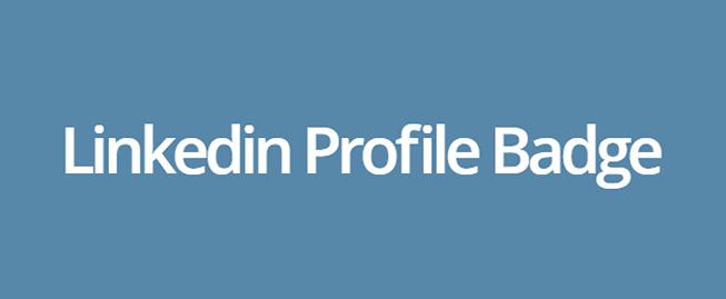 Linkedin profile badge plugin