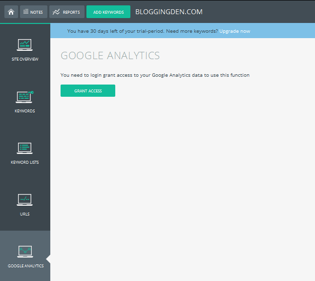integrate google analytics account