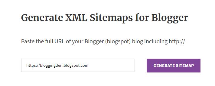 Blogger XML Sitemaps