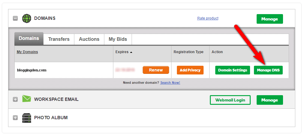 manage dns from godaddy account