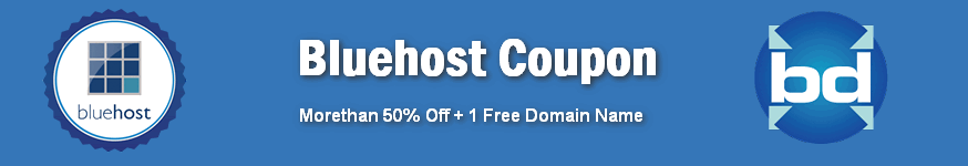 Bluehost Coupon code with free domain name