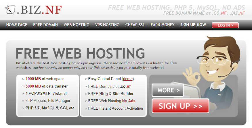 Biznf web hosting