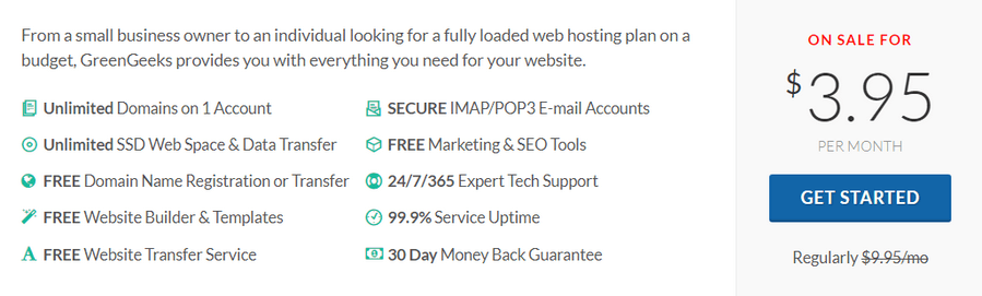greengeeks shared web hosting