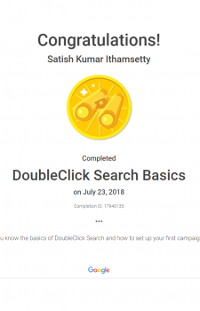 DoubleClick search basics certificate