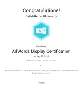 adwords display certificate