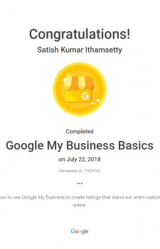 Google my business basics exam
