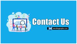 contact us - bloggingden
