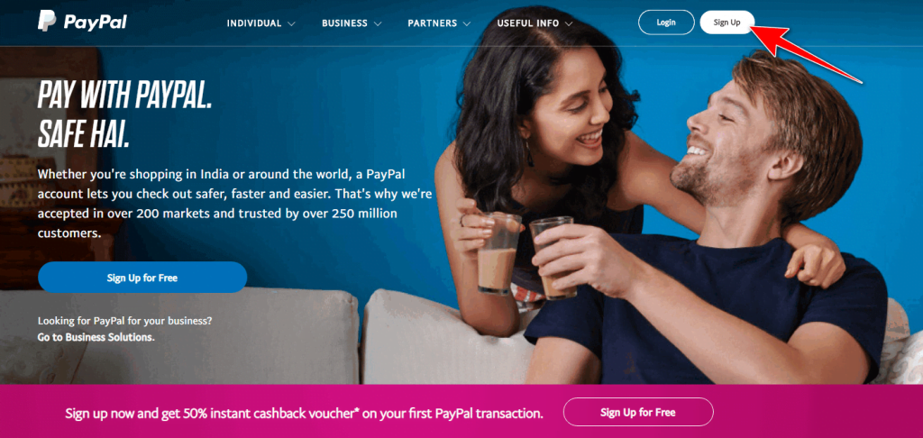 Paypal official homepage