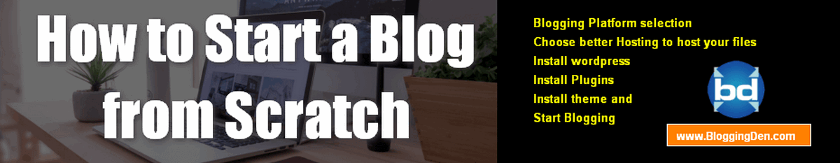 How to start a blog from scratch?