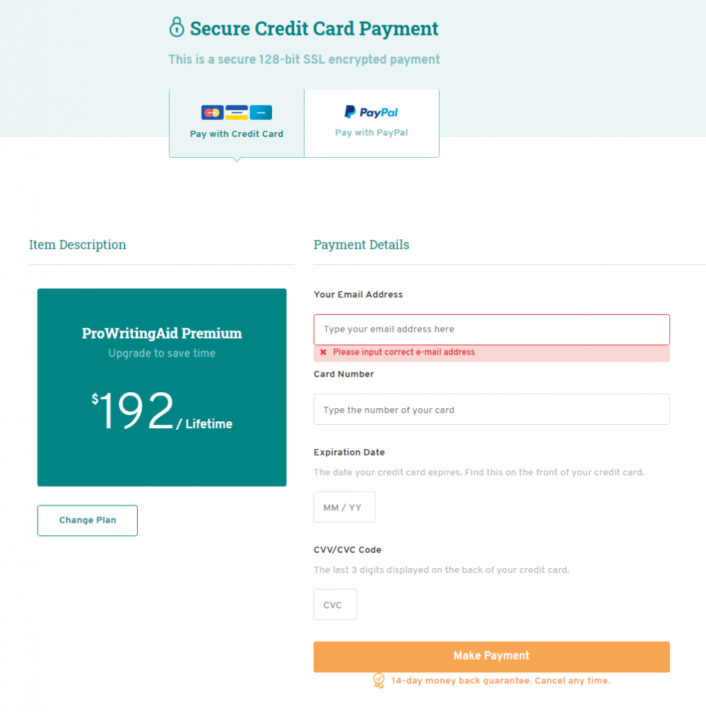 choose the payment system and complete purchase